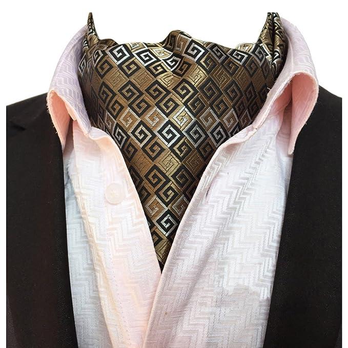 1fb43c8e22c1 YCHENG Uomo Foulard Da Cravatta Di Lusso In Seta Sciarpa avorio Taglia unica
