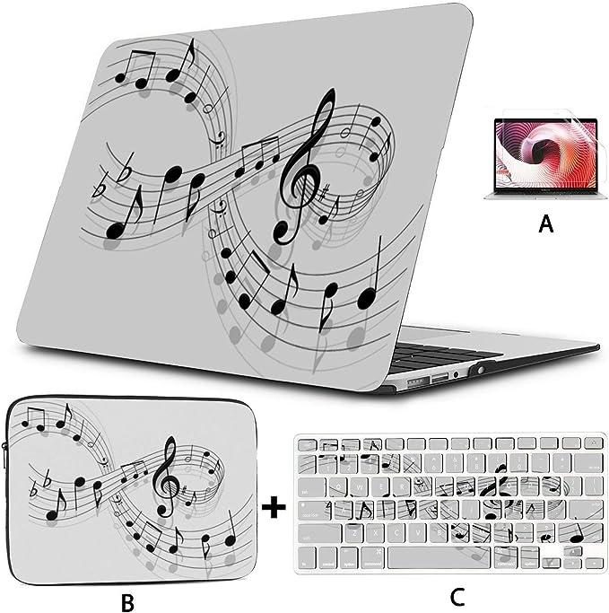 Xxh 15 Inch Laptop Sleeve Computer Bag MacBook Air//pro Sleeve Music Notation Notebook Case