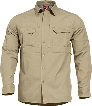 PENTAGON Chase Tactical Shirt, Size-4xl, Colour Camisa, Marrón (Khaki 04), XXXX-Large para Hombre: Amazon.es: Ropa y accesorios