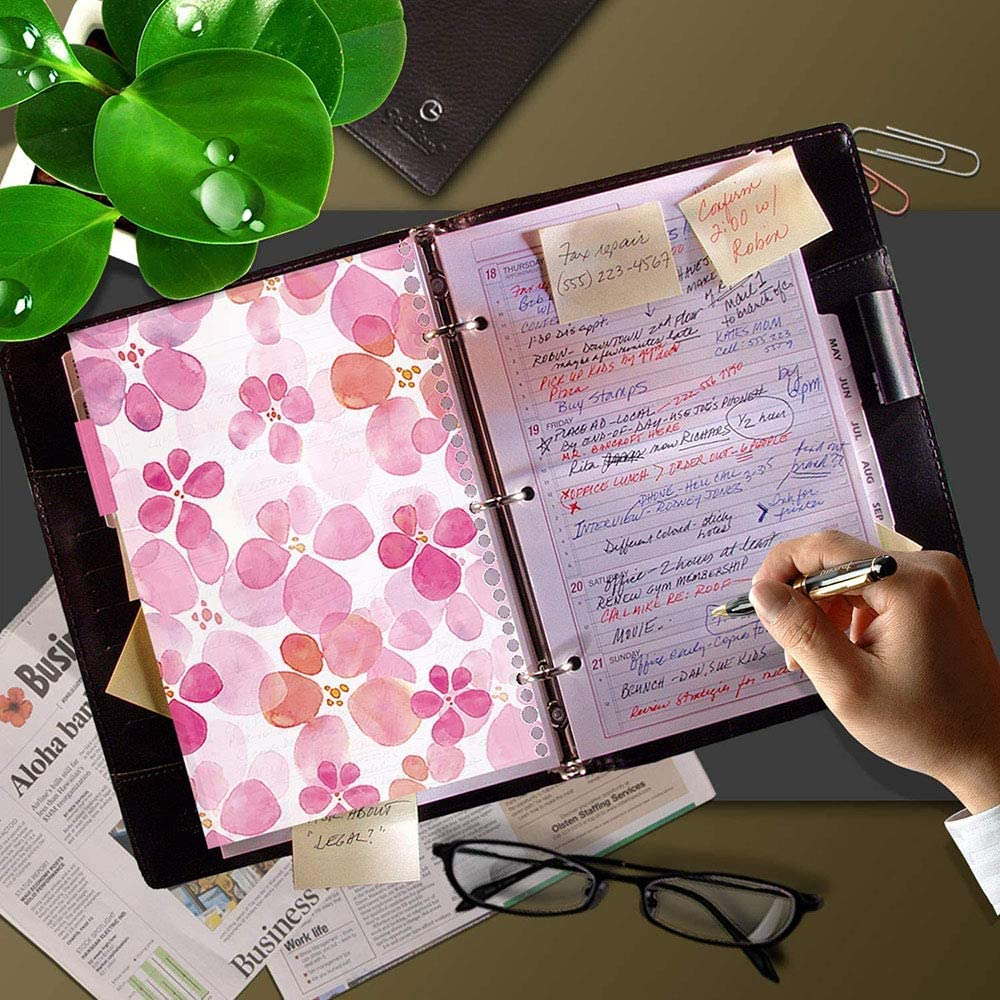 pour Cahier Carnet de Voyage Quotidien 12 Pi/èces Diviseurs A5 A6,Intercalaires Pour Dossier Intercalaires /à Onglets Color/és Agenda