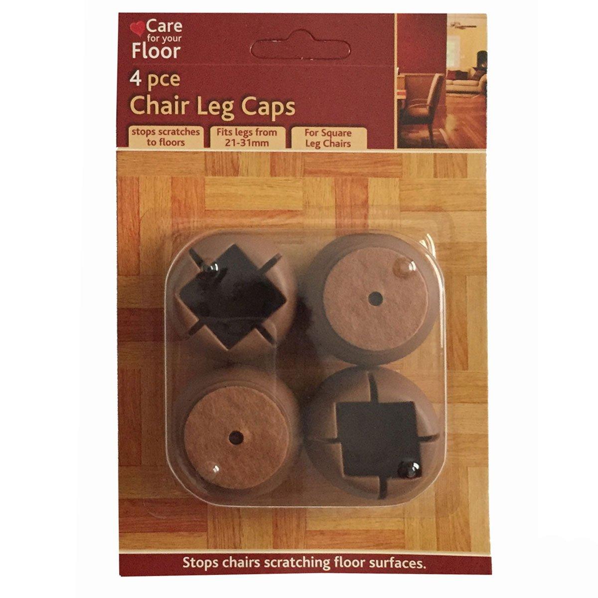 4 X Brown Chair Leg Caps 21 31mm Chair Leg Pads Castors Casters By FD:  Amazon.co.uk: Kitchen U0026 Home