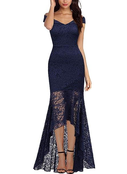a751c00a2 Miusol Vintage Encaje Slim Vestido de Noche Largo para Mujer: Amazon.es:  Ropa y accesorios