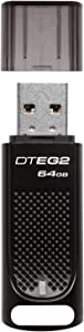 Kingston 64GB DataTraveler Elite G2 Black Metal Casing Fast 180MB/s R, 70MB/W USB 3.1 Flash Drive with LED light indicator (DTEG2/64GB)