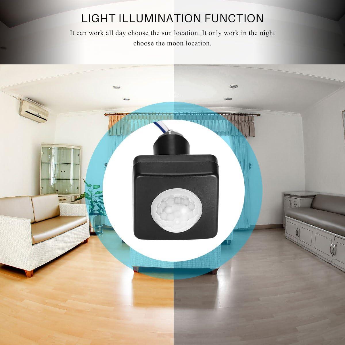 FreeLeben PIR Motion Sensor Switch Built-in 3 Adjustable Switches 180 Degree Sensing Range Maximum Distance of 26.2 Feet IP54 Waterproof