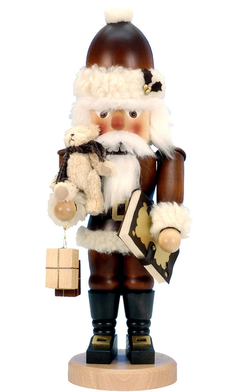 32-965 - Christian Ulbricht Mini Nutcracker - Santa with Teddy - 18''''H x 6.75''''W x 5.5''''D by Alexander Taron Importer