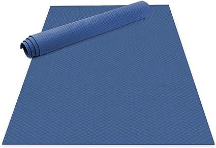 Tapis de Yoga Tapis de Sport Anti-Bact/éries Tapis de Fitness Extra Long 183 cm x 61 cm Holi Vert Premium bio Jute 5 mm Tapis Pilates