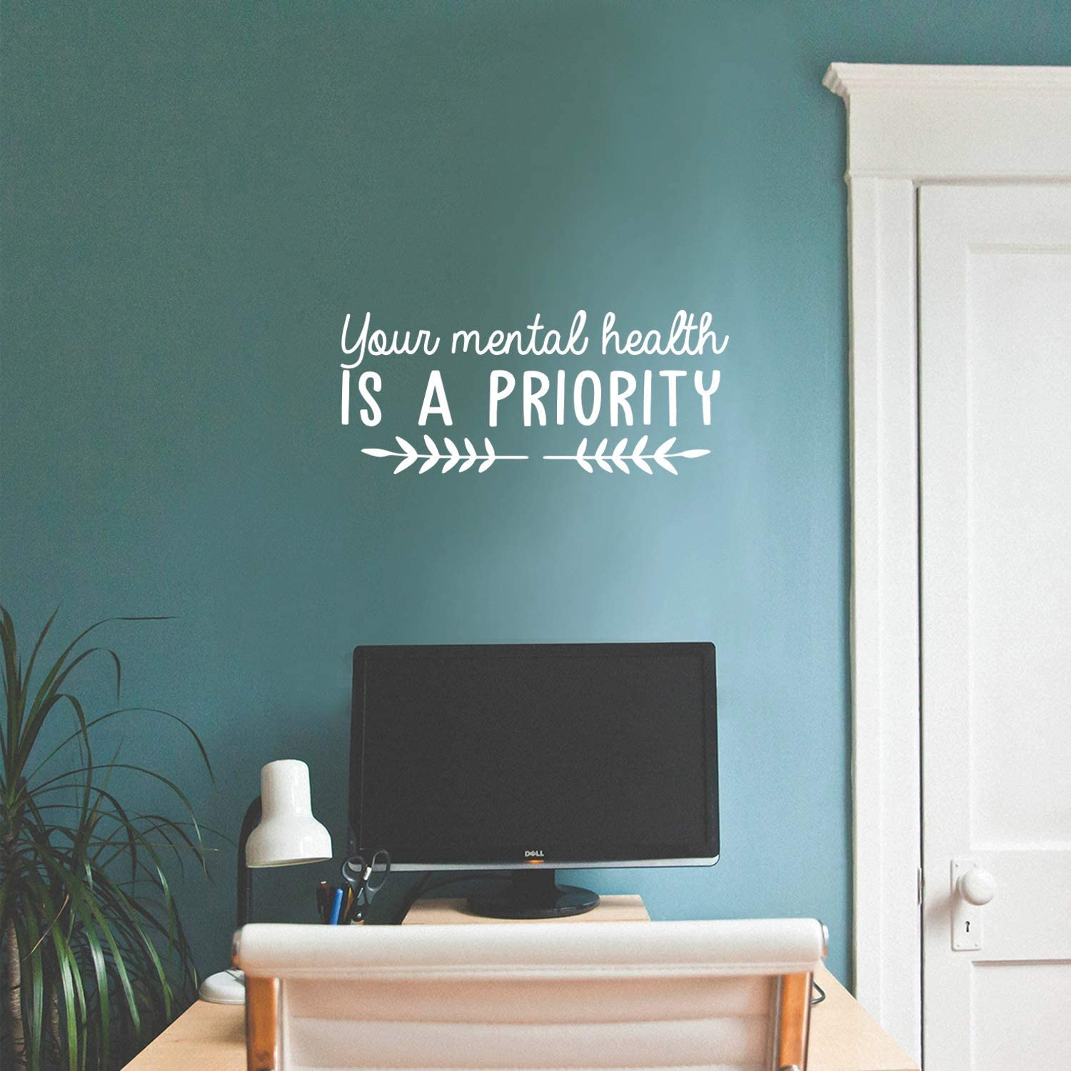 Vinyl Wall Art Decal - Your Mental Health is A Priority - 10.5