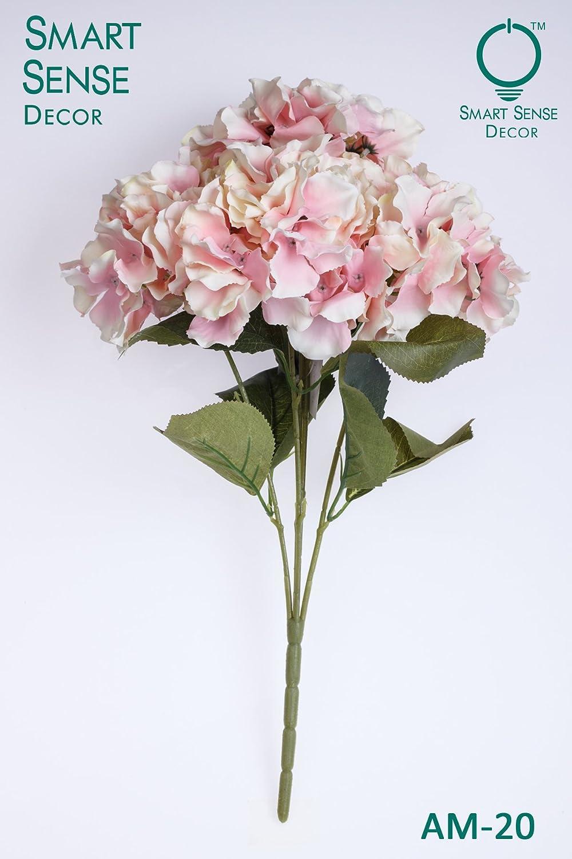 "SmartSense 15/"" Artificial Hydrangea Silk Flower Bunch for Bouquet Pick Any"
