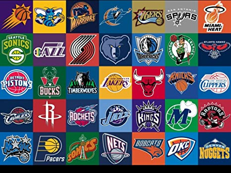 The Museum Outlet Charts Of Sl Nba Logos A3 Poster Print Amazon Co Uk Kitchen Home