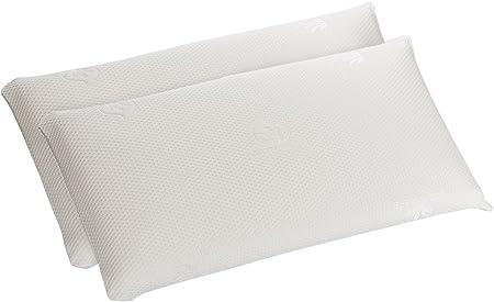Dormio - Pack de 2 unidades, almohada viscoelástica lavable ...