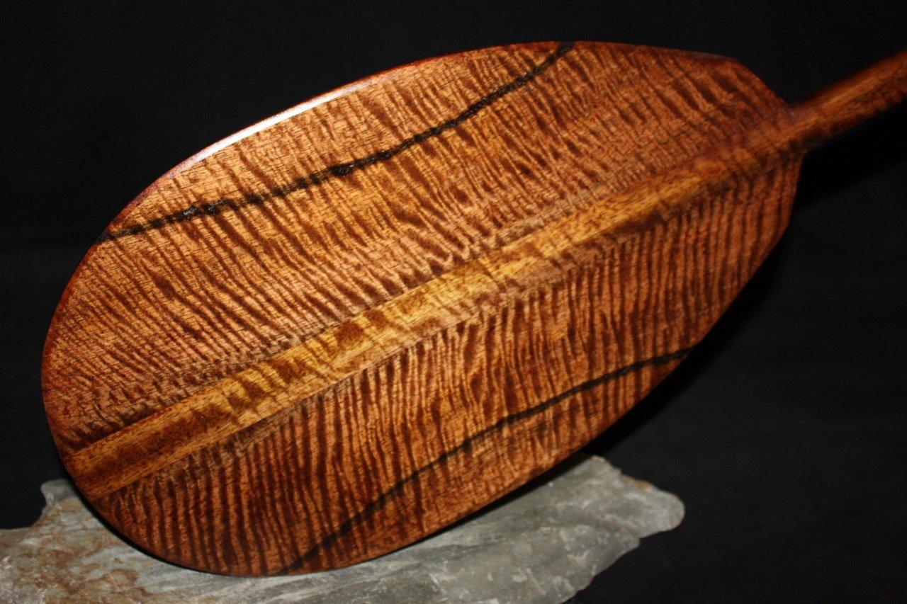 Deep Tiger Curls Koa Paddle 60'' AAA Grade Steersman - Hawaii Made   #koab17
