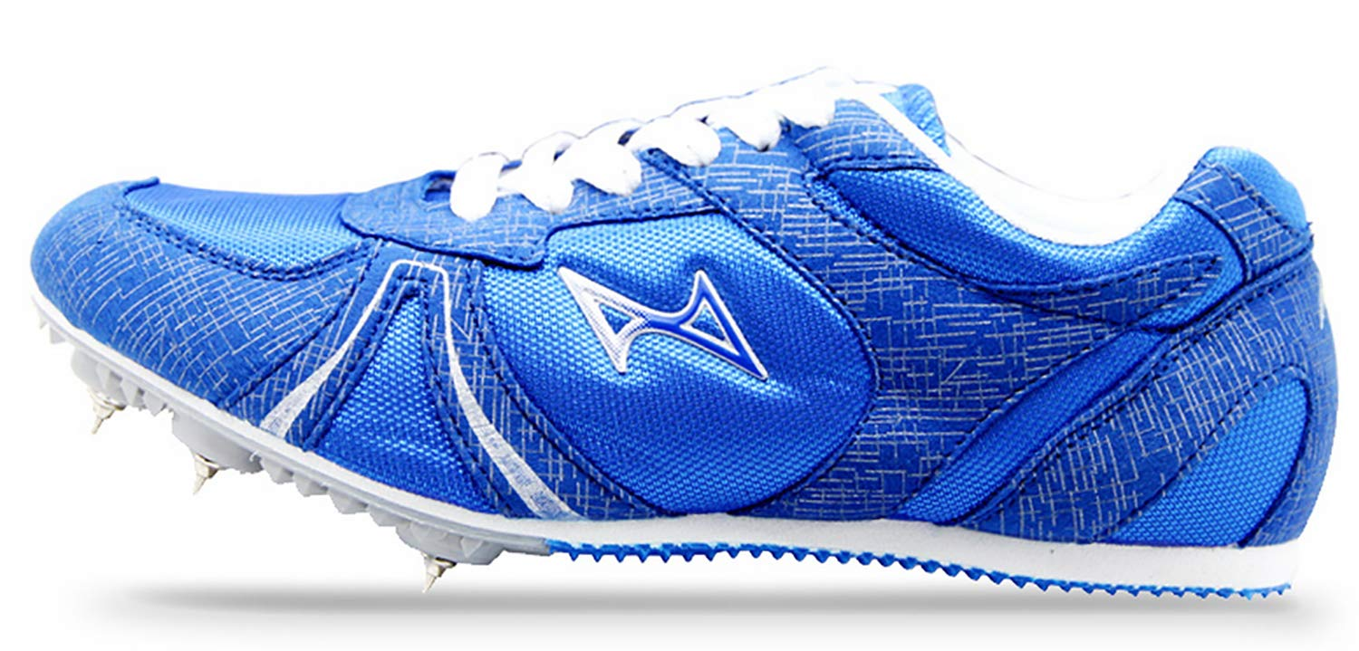 HEALTH Boy's Girl's Sprint Track & Field Shoes Spike Running Mesh Breathable Professional Sports Shoes 599 Blue