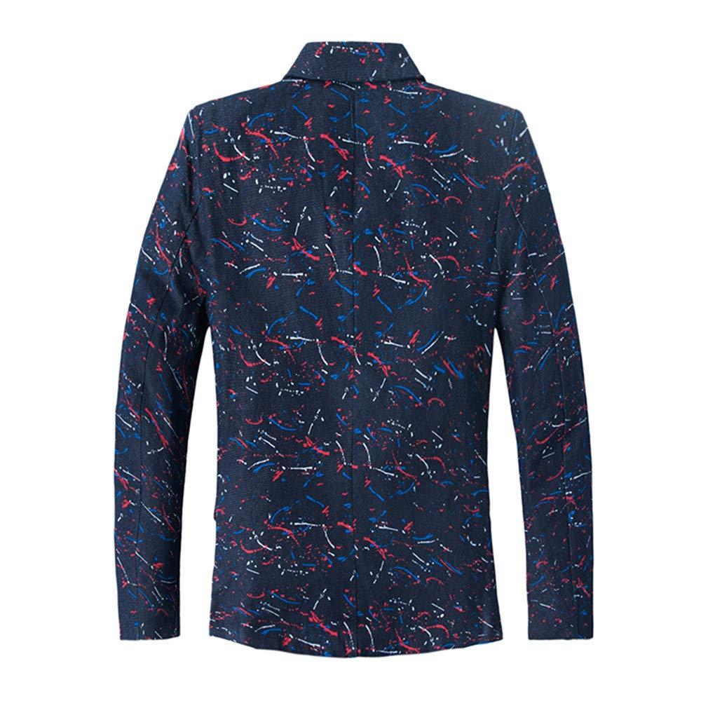 LuckyGirls Chaqueta del Trajes Blazers Estampado Slim Fit Entallada Americana Abrigo: Amazon.es: Deportes y aire libre