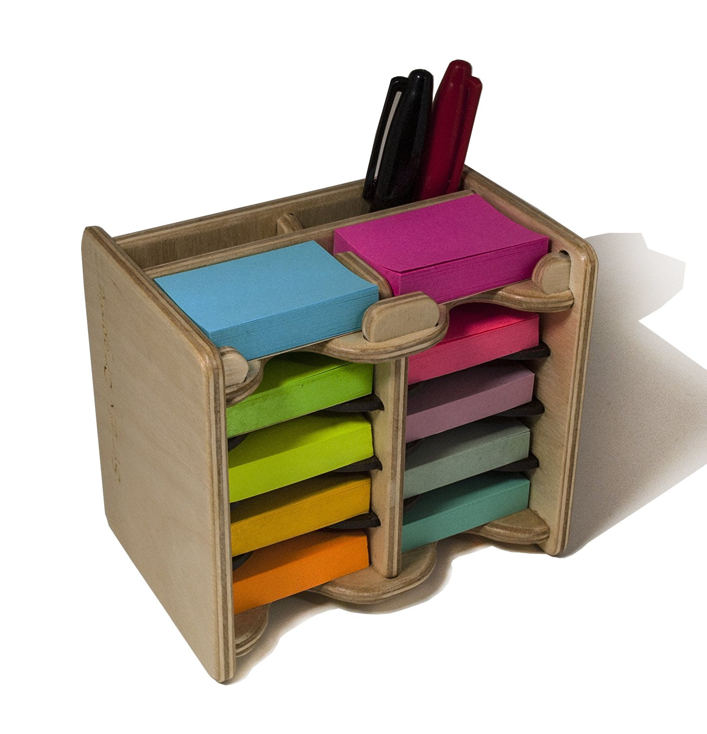 Strictly Origamic Colored Mini Sticky Notes Pad (10) and Pen Holder/Organizer (Includes Ten 1.5'' x 2'' Pads) by Strictly Origamic