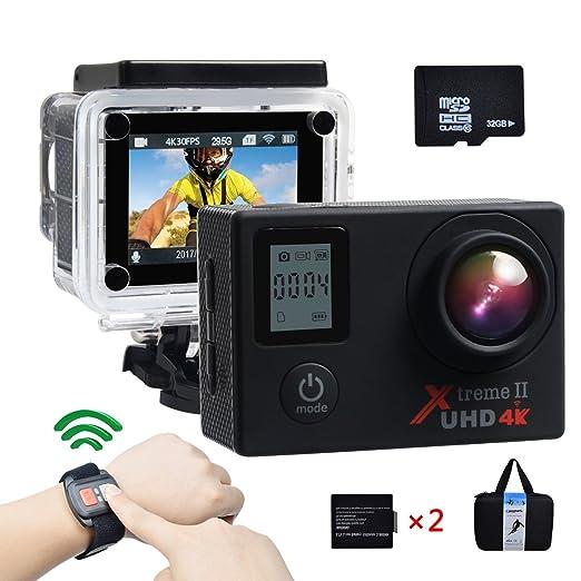 650 opinioni per Campark 4K Action Camera Dual Screen WIFI Ultra HD 16MP Impermeabile Sport