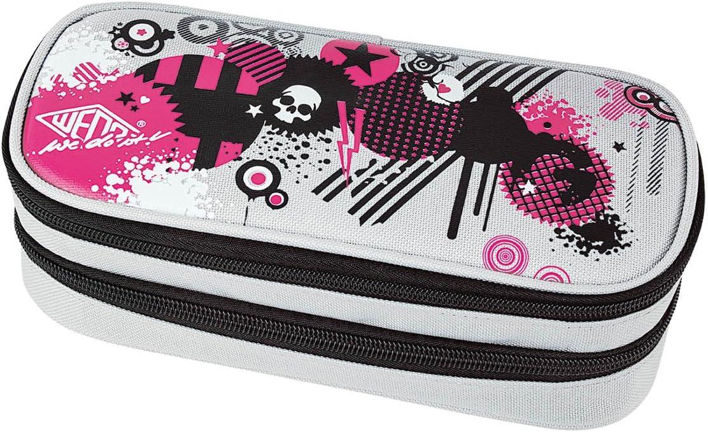 Wedo Graffiti - Estuche con 2 compartimentos, multicolor: Amazon.es: Oficina y papelería