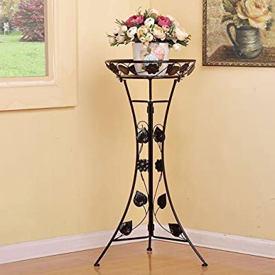 LRW European Style Simple Wrought Iron Flower Stand Floor Type Flower Pot Rack Living Room Balcony Flower Stand: Garden & Outdoor