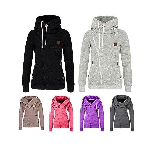 Moda Mujer invierno abrigo chaqueta con capucha Casual Slim caliente sportwear Outwear (L, Khaki)
