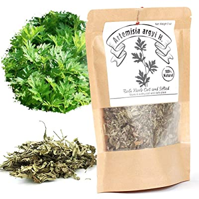 EidolonGreen [China Medicinal Herb] Chinese Mugwort (ai ye/艾叶/艾蒿/aihao/강화 약 쑥 차/Oriental Wormwood ) 100% Natural Dried Bulk Herbs 3 Oz (88g): Grocery & Gourmet Food