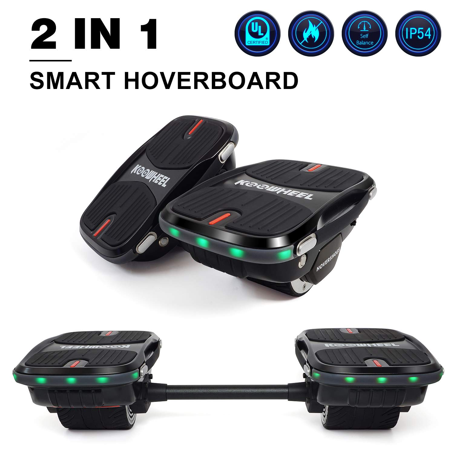 Convertible Hoverboard Hovershoes Electric Roller Skating Shoes/Self Balancing Hoverboard 2 in 1