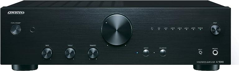 Onkyo A9010 Amplificador Estéreo Integrado, Color Negro