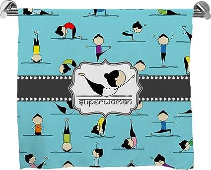 Impresión completa Poses de Yoga toalla de baño (personalizado)