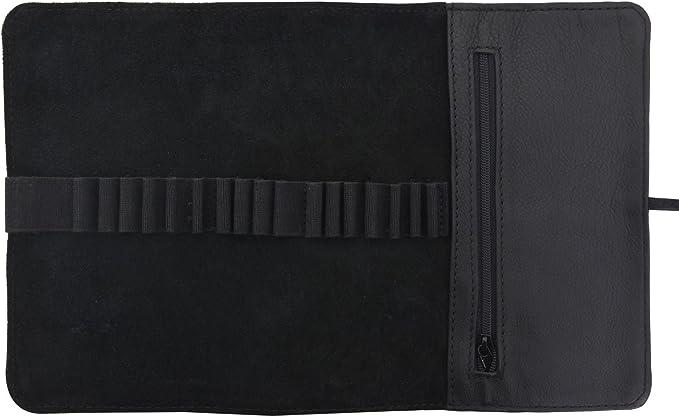 Gusti Cuir studio trousse /à crayons en cuir /étui /à crayons trousse en cuir homme femme cuir de buffle noir 2S2-22-9