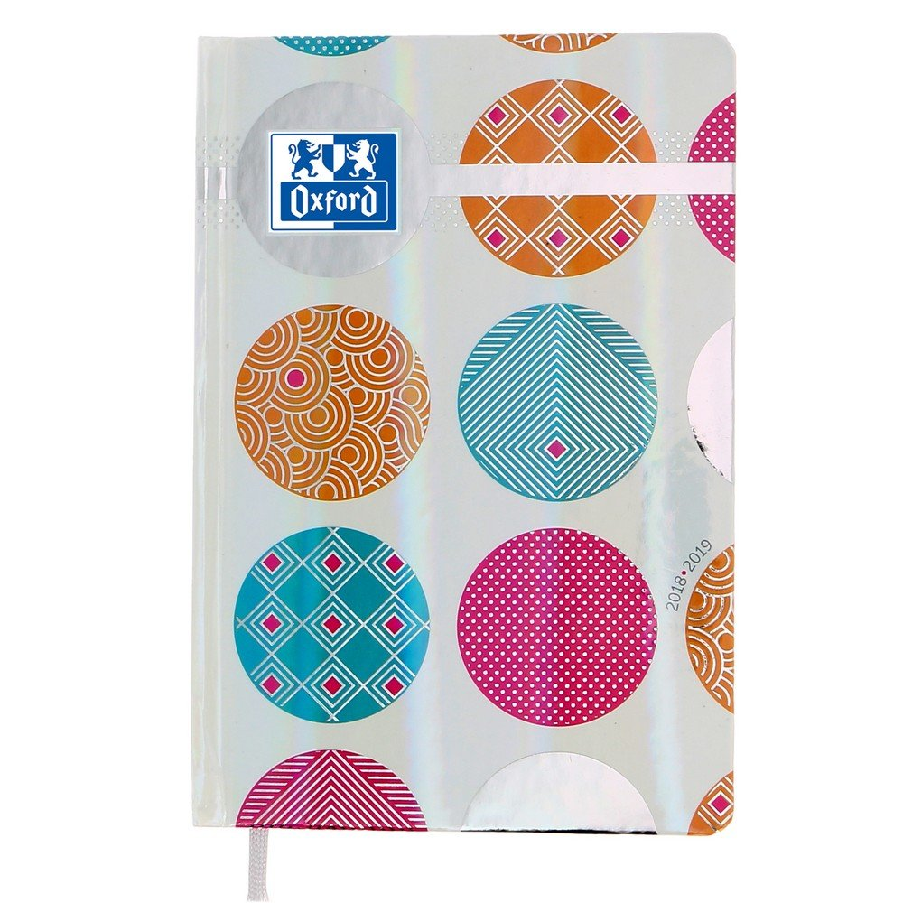 Oxford Pop N' Fluo Agenda Scolaire Journalier 2018-2019 1 Jour Page 352 Pages 12x18 Blanc 400082339