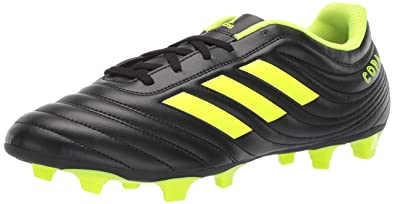 huge discount 3200d 478d7 adidas Mens Copa 19.4 Firm Ground, BlackSilver MetallicSolar Yellow, 6.5