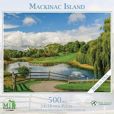 Mackinac Island - 500 Piece MI Puzzles Jigsaw Puzzle: Toys & Games