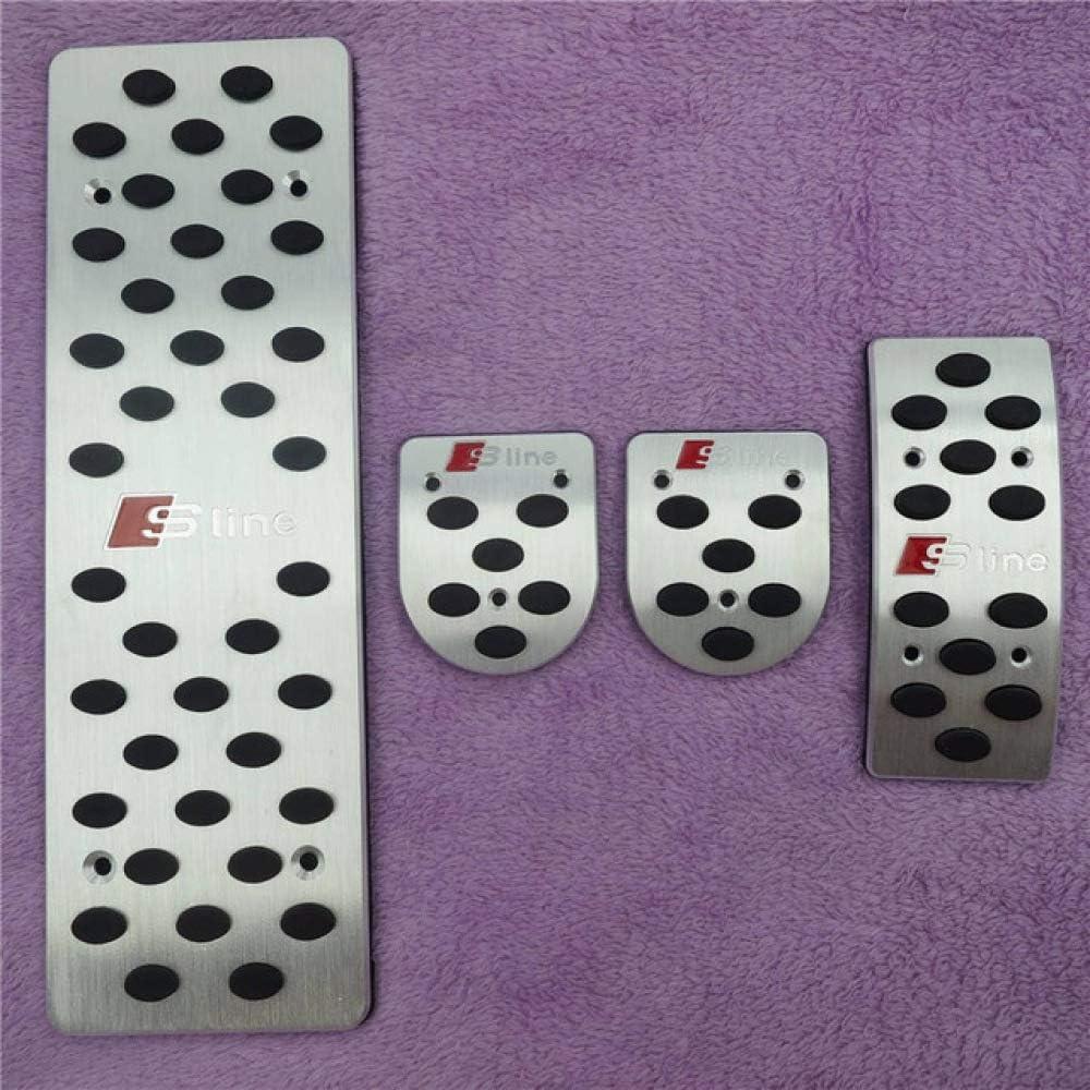 JXSMQC Freno Embrague Pedal Pedal Pad Accesorios Coche./para Audi A4 B6 B7 B8 A5 A6 C5 C6 A7 A8 Q5 A3 Q3 TT MT