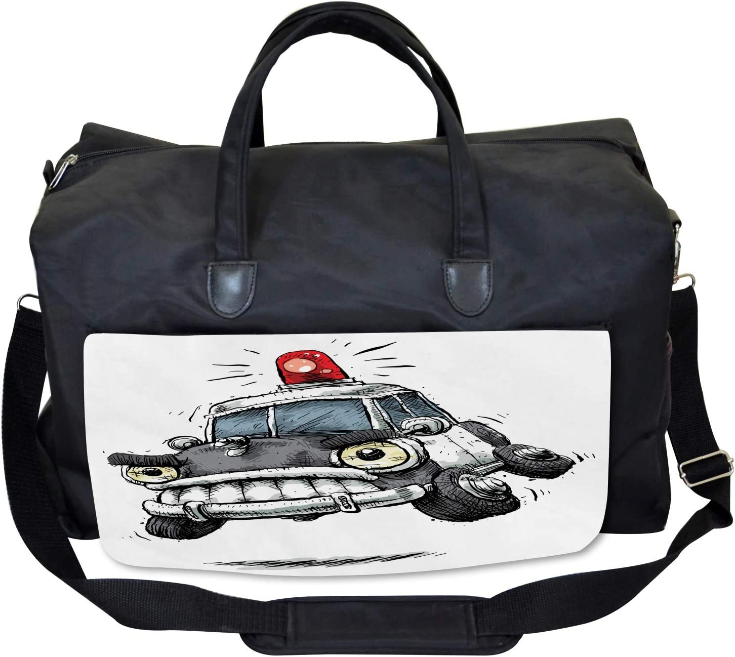 Ambesonne Cartoon Gym Bag Large Weekender Carry-on Playing Card