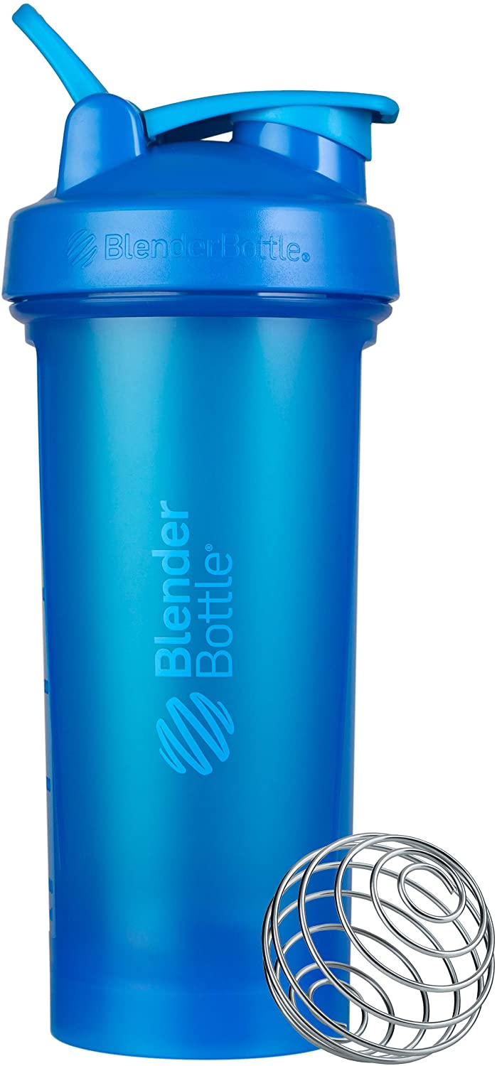 BlenderBottle Classic V2 Shaker Bottle Perfect for Protein Shakes and Pre Workout, 28-Ounce, Cyan