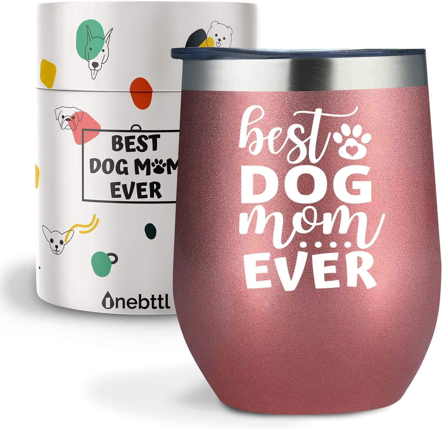 Vet Tech Aunt Funny 12 ounces//340ml Dog Themed Insulated Stainless Steel Tumbler with Lid for Dog Owner Dog Person Onebttl Dog Mom Wine Tumbler Dog Lover Gifts for Women Coworker,Wife,Friends