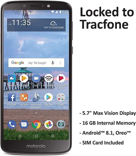 Amazon.com: Tracfone - Teléfono móvil Motorola Moto e5 4G ...