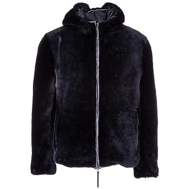 3e1ce9bb4621 Emporio Armani Manteau en Fourrure Homme blu 50 EU  Amazon.fr  Vêtements et  accessoires
