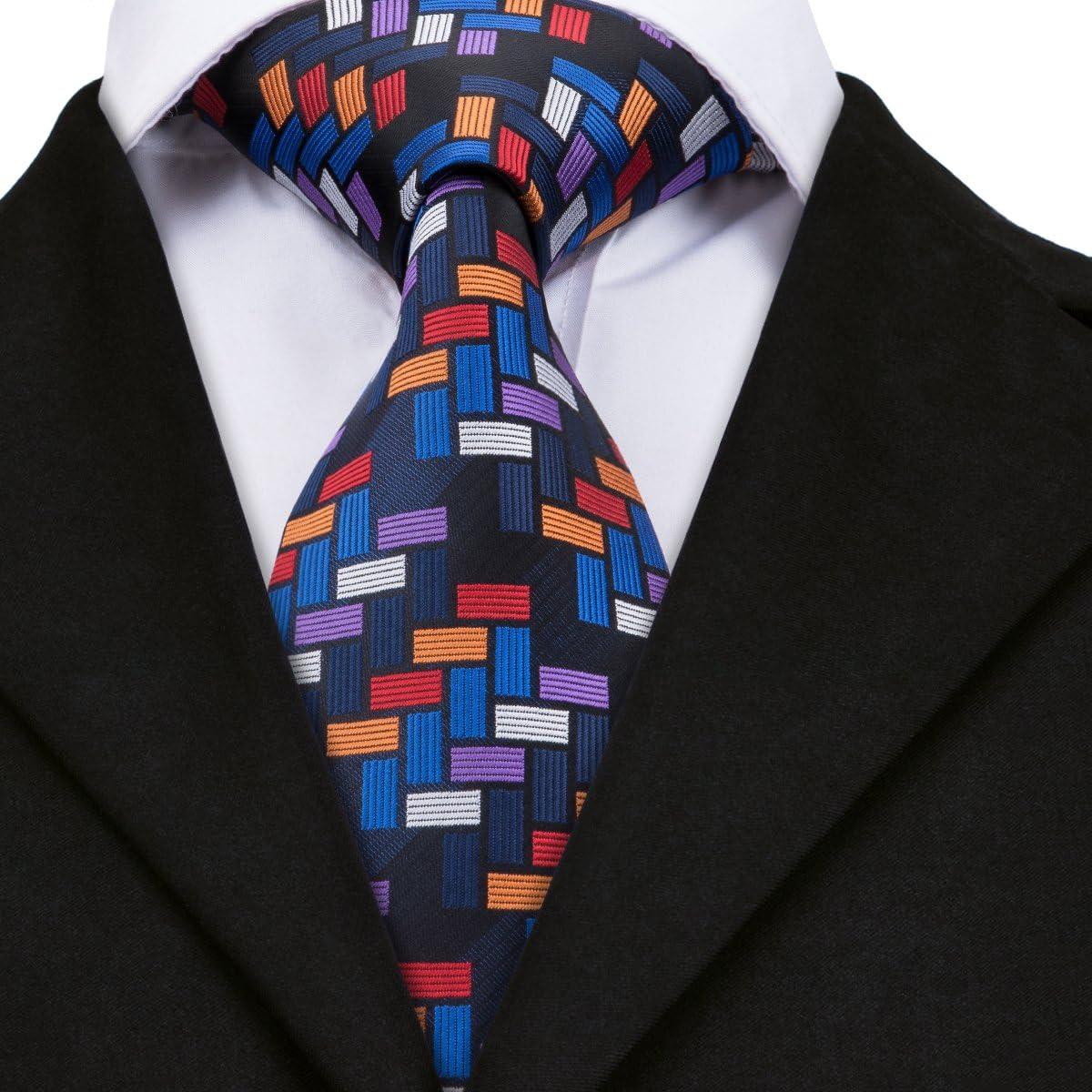 HYCZJH Lazos de Tela Escocesa para los Hombres Camisa Corbata Corbata de Seda Real Lazos para Hombre Lazos de Rayas Azules para Hombres: Amazon.es: Hogar