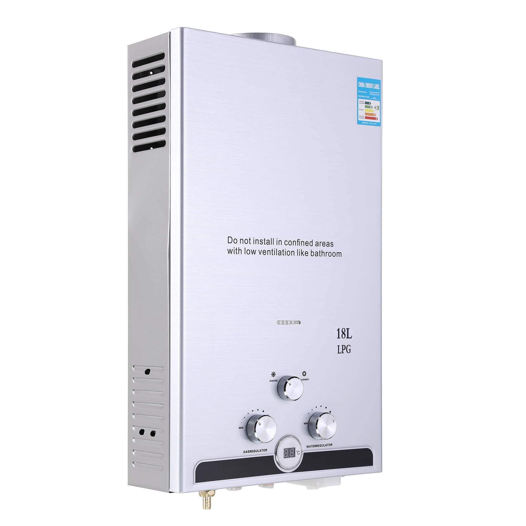 Digital Display LPG 8L Natural Gas Tankless Instant Hot Water Heater Boiler