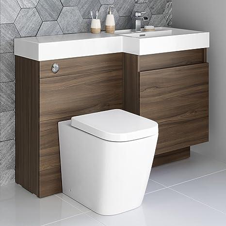 Conjunto Mueble Baño Cisterna Oculta Wc Lavabo Wc Lavabo Pan
