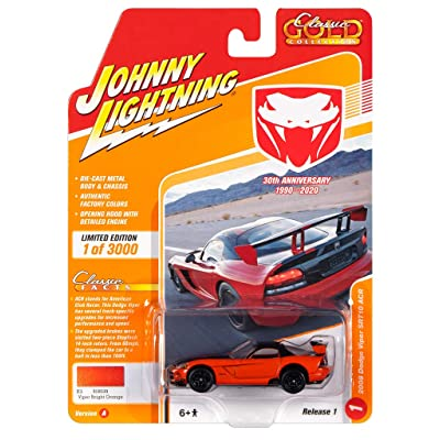 Johnny Lightning JLCG021 Classic Gold VER A 2008 Dodge Viper SRT10 ACR: Toys & Games