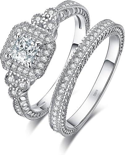 Amazon Com Jewelrypalace 0 3ct 1ct 2ct Princess Cut Cubic