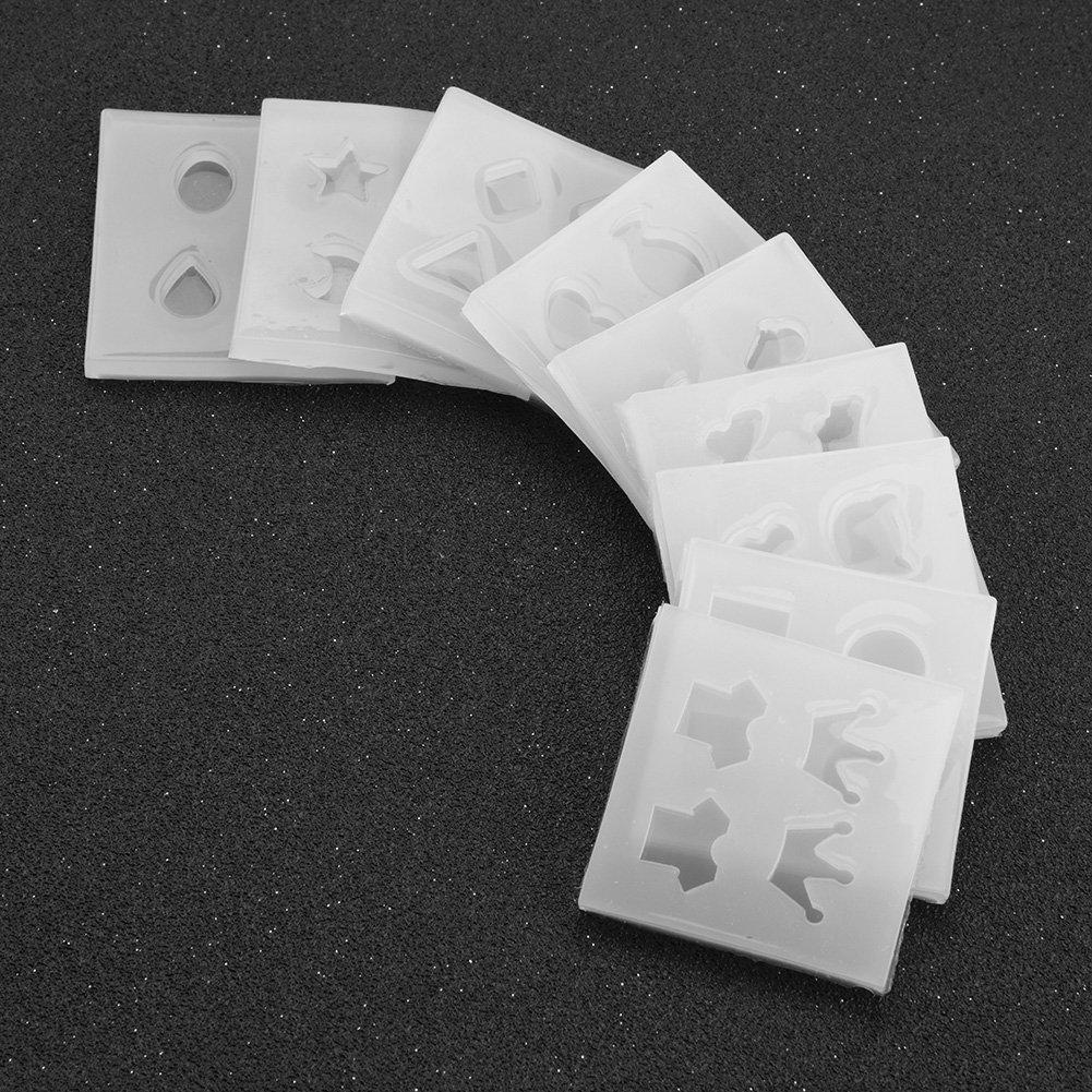9 Art D/écoratif Types Femmes Moule en silicone Pour faire des boucles doreilles Ensemble de r/ésine /époxy Outil fait main de bricolage Kit de d/écoration