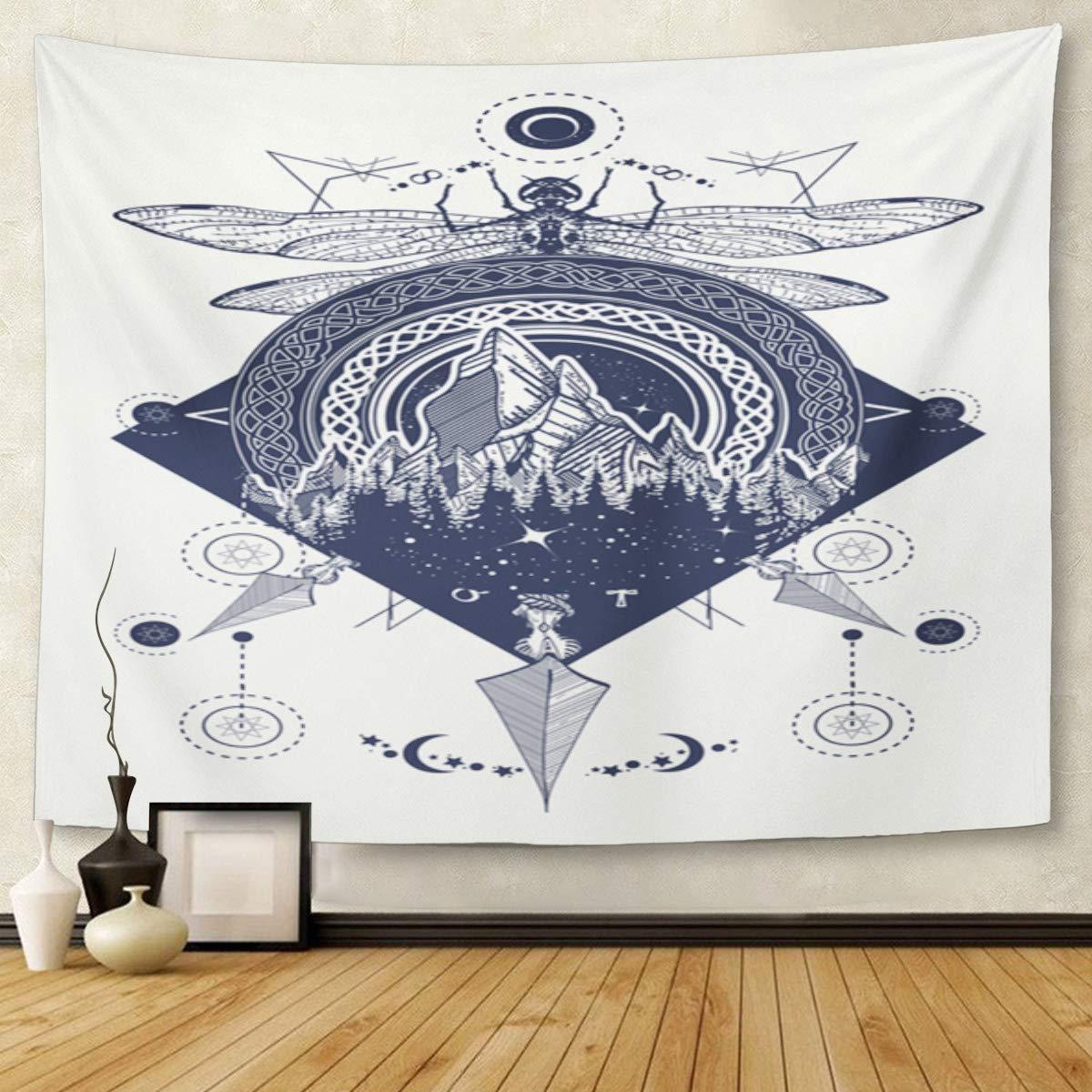Tapiz con diseño de mandala, 127 x 152 cm, para decoración del ...