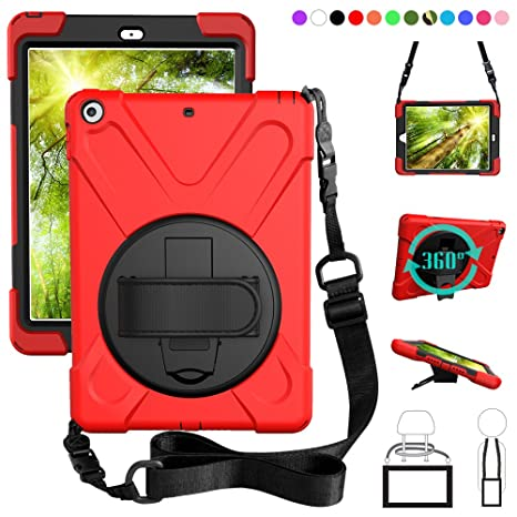 Tablets & E-books Case Cheap Price 360 Rotating Kickstand Hand Shoulder Strap Case For New Ipad 2017&2018 Pro 9.7 Shockproof Cover Case With Screen Protector+gifts Online Shop