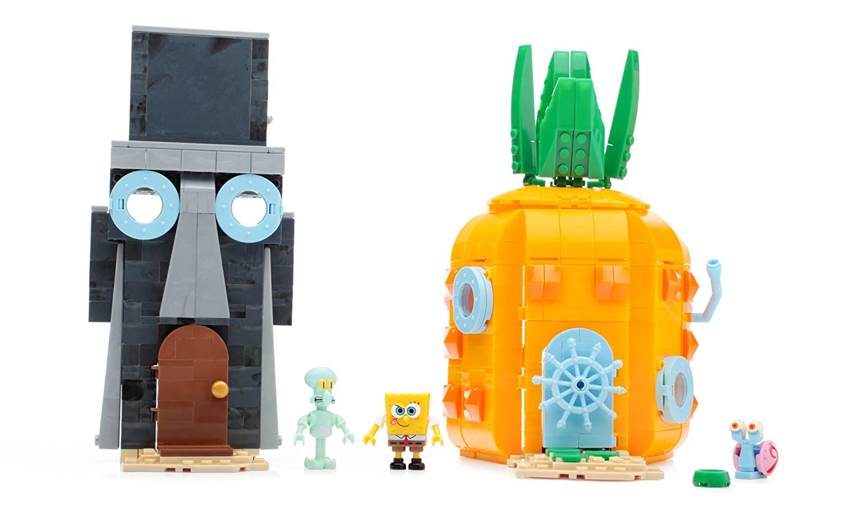 Mega Blocks CNF69 Sponge Bob Square Pants Bad Neighbours Building ...