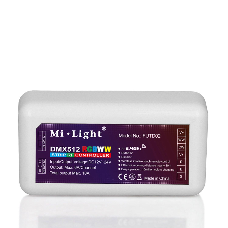 LIGHTEU®, 1 stück DMX512 RGB + CCT Strip Controller, mehrfarbig und ...
