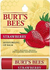 Burt's Bees Moisturizing Lip Balm, Strawberry, 0.15 Ounce