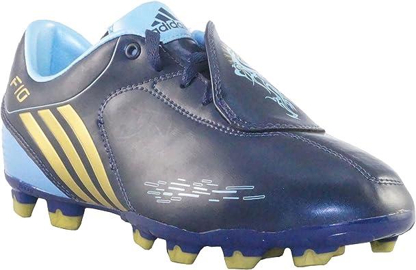 adidas F10 I TRX FG J G02221 - Botas de fútbol, color azul y ...