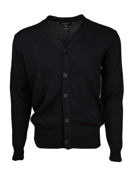 Amazon.com: Marquis de los hombres negro sólido botón 100 ...