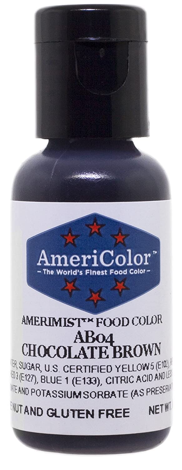 AmeriColor AmeriMist Chocolate Brown Airbrush Food Color, .65 Ounce